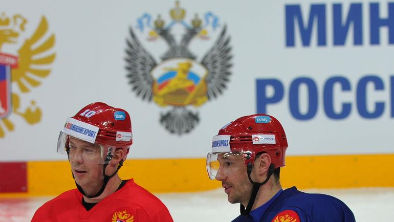 """Сергей МОЗЯКИН (слева) и Илья КОВАЛЬЧУК. Фото Александр ФЕДОРОВ, """"СЭ"""""""