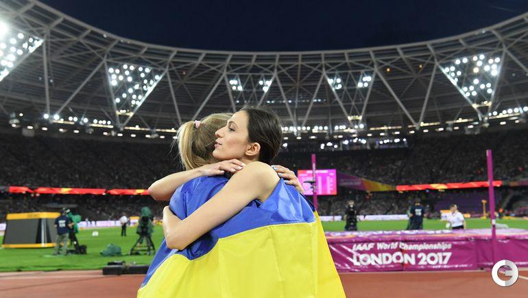 Суббота. Лондон. Мария ЛАСИЦКЕНЕ и Юлия ЛЕВЧЕНКО. Фото AFP