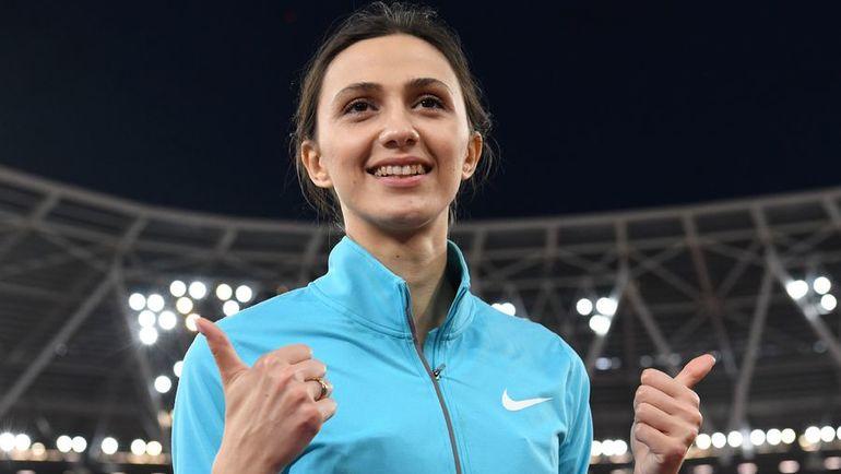 Вчера. Лондон. Мария ЛАСИЦКЕНЕ выиграла золотую медаль чемпионата мира. Фото AFP