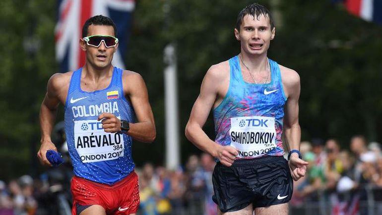 Сергей ШИРОБОКОВ (справа) и Эйдер АРЕВАЛО. Фото AFP