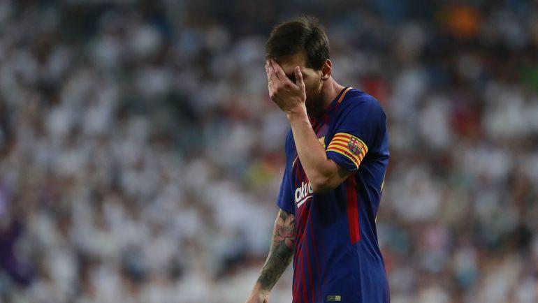 "Среда. Мадрид. ""Реал"" - ""Барселона"" - 2:0. Лионель МЕССИ в матче за Суперкубок Испании. Фото AFP"
