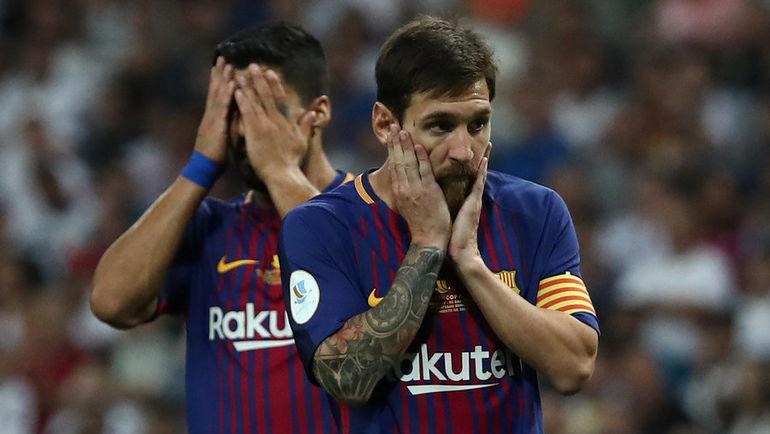 """Среда. Мадрид. """"Реал"""" - """"Барселона"""" - 2:0. Луис СУАРЕС (слева) и Лионель МЕССИ не смогли одолеть принципиального соперника. Фото AFP"""