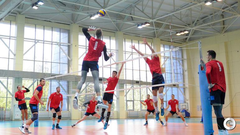 Четверг. Новогорск. Тренировка сборной России по волейболу.