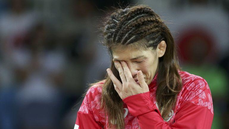 Слезы Саори ЕСИДЫ после поражения в олимпийском финале в Рио-2016. Фото REUTERS