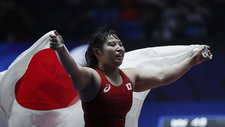 Триумфатор чемпионата мира в весовой категории до 69 кг Сара ДОШО. Фото AFP
