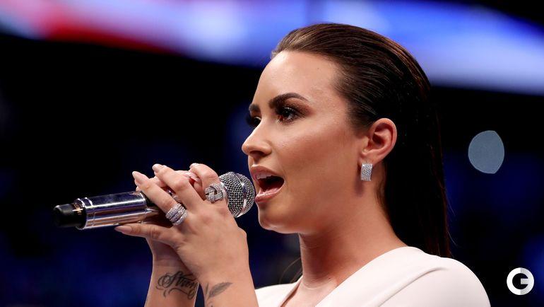 Суббота. Лас-Вегас. Певица Деми ЛОВАТО. Фото AFP
