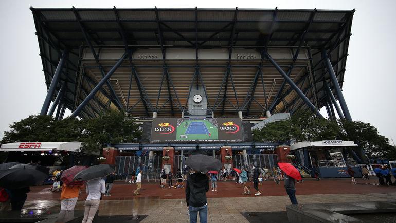 Большинство матчей второго дня US Open не состоялось из-за дождя. Фото USA TODAY Sport