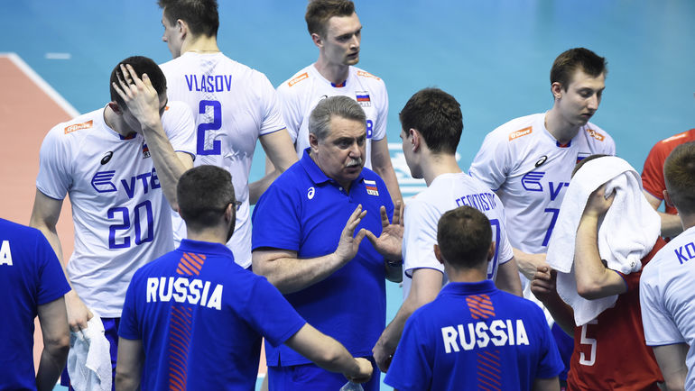 Сергей ШЛЯПНИКОВ в сборной России. Фото FIVB