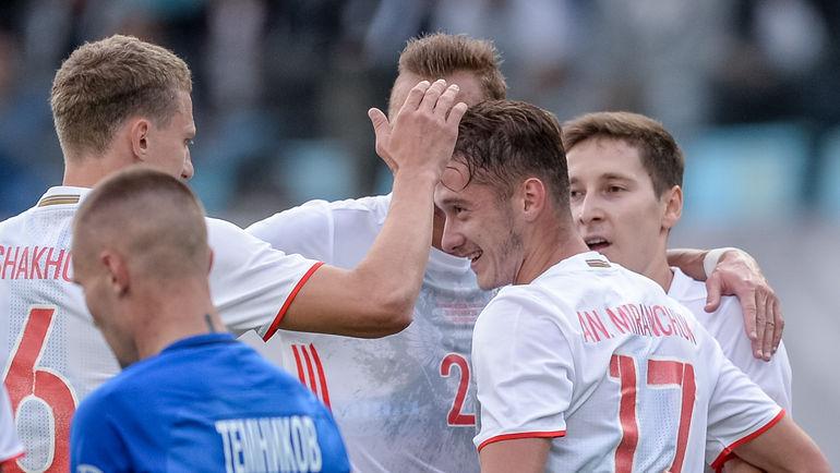 Сборная России в контрольном матче разгромила «Динамо» (Видео)
