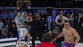 Болельщики бьют бойцов. Как это бывает (18+)