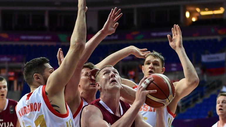 Сегодня. Стамбул. Россия - Латвия - 69:84. Россияне вели в счете, но рассыпались в концовке. Фото AFP