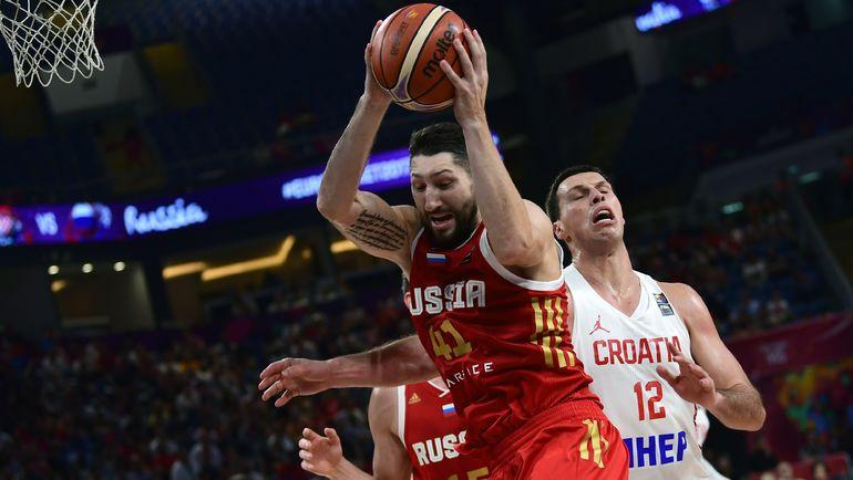 Воскресенье. Стамбул. Хорватия - Россия - 78:101. В игре Никита КУРБАНОВ. Фото AFP