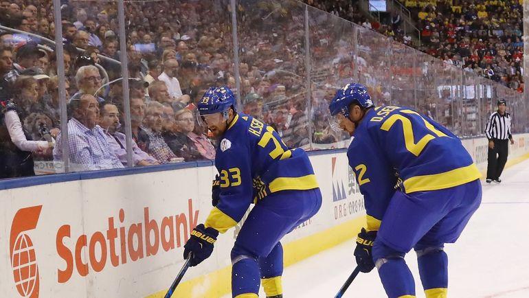 2016 год. Хенрик СЕДИН (слева) и Даниэль СЕДИН в составе сборной Швеции на Кубке мира. Фото AFP
