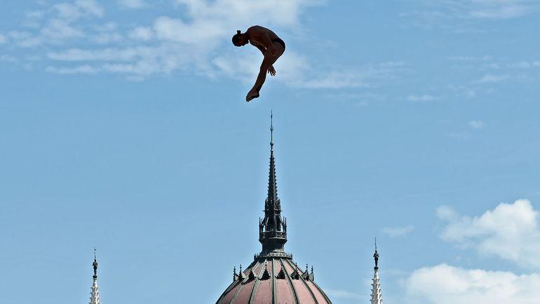 Хай-дайвинг на чемпионате мира по водным видам спорта-2017 в Будапеште. Фото AFP