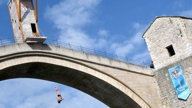 Сегодня. Мовистар. Соревнования Red Bull Cliff Diving на . Фото AFP