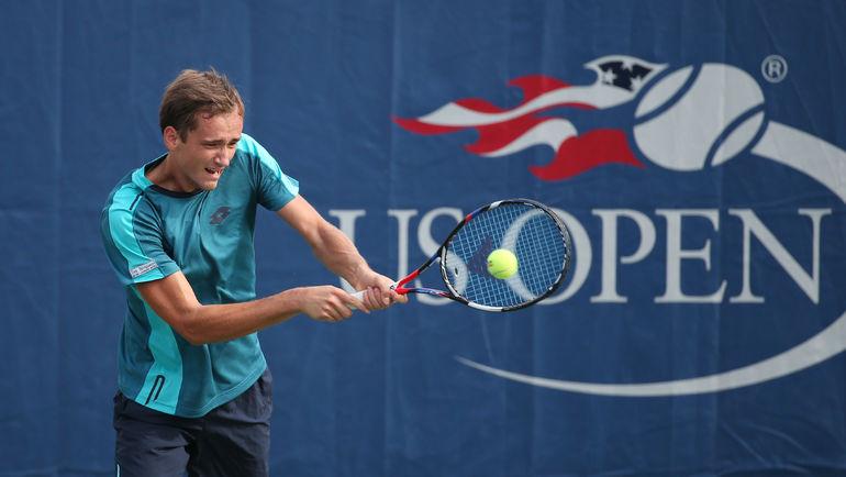Даниил МЕДВЕДЕВ в матче с Шаповаловым. Фото USA Today