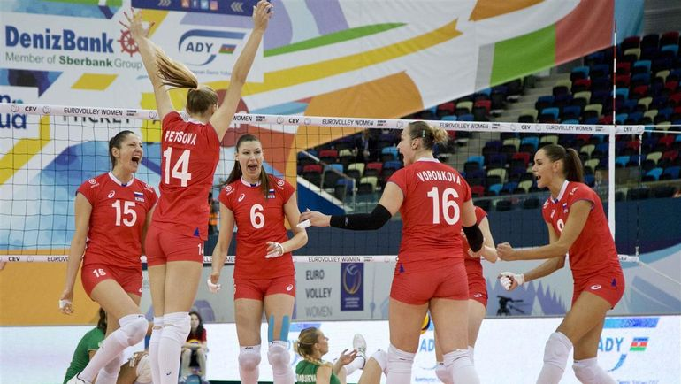 Сегодня. Баку. Россия - Болгария - 3:2. Россиянки добыли непростую победу. Фото CEV