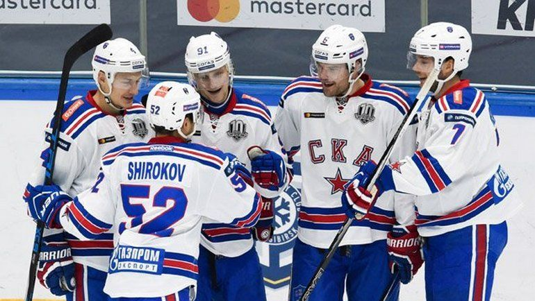 Согласно котировкам СКА легко победит «Сибирь» вматче КХЛ