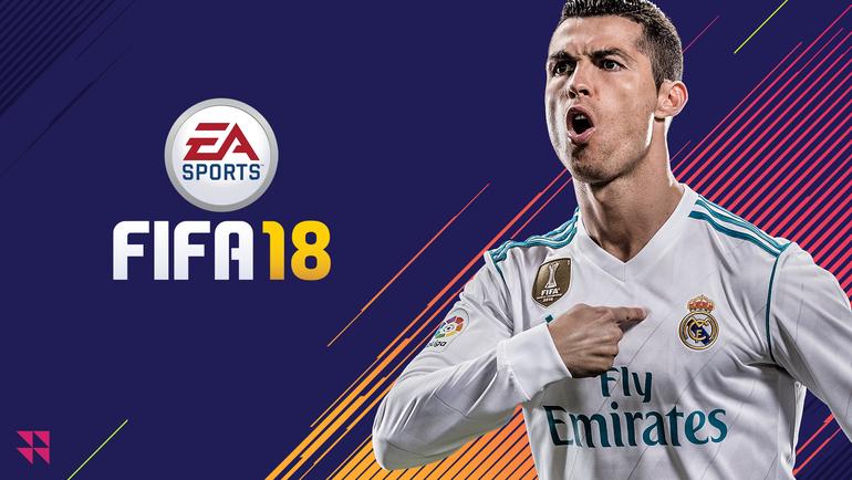 Заставка FIFA 18.