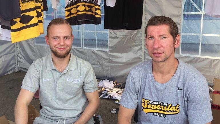 """Виталий ВИШНЕВСКИЙ (справа). Фото ХК """"Северсталь"""""""