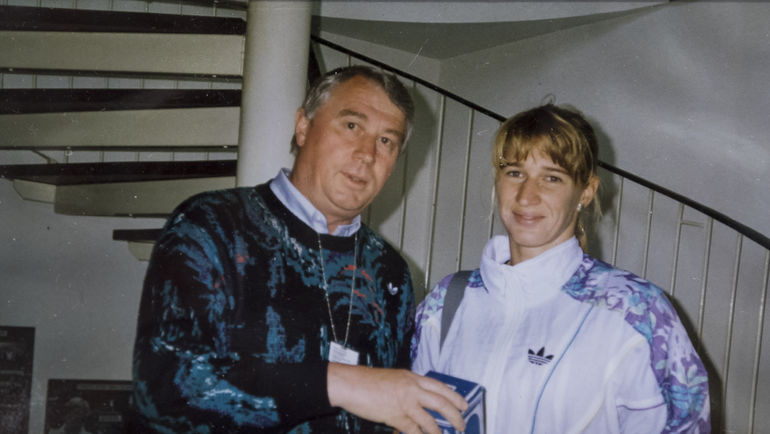 Анатолий КОРШУНОВ и Штеффи ГРАФФ. Фото из архива Анатолия КОРШУНОВА