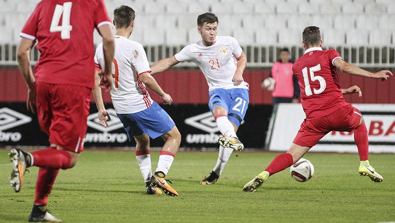 Российская Федерация уступила Сербии вматче отборочного турнира молодёжного ЧЕ-2019 пофутболу