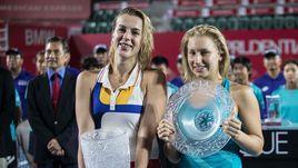 Теннис во время урагана. Павлюченкова взяла титул в Гонконге