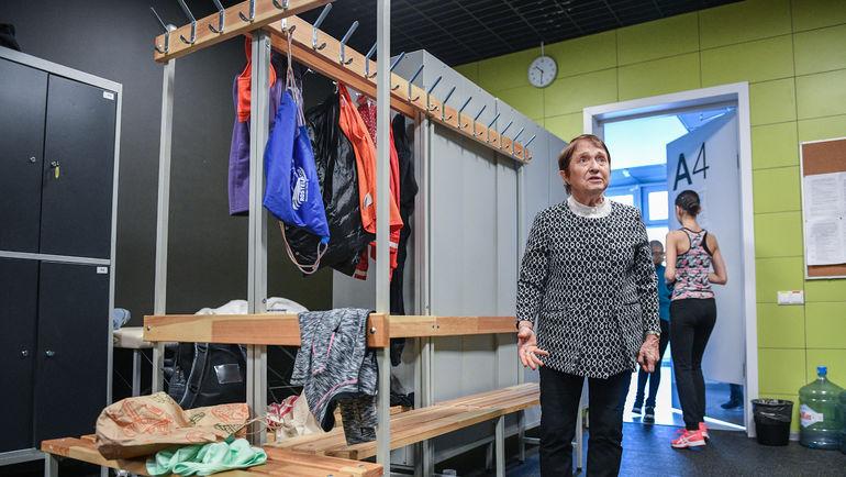 """Тамара МОСКВИНА в раздевалке. Фото Дарья ИСАЕВА, """"СЭ"""""""