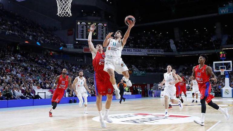 ЦСКА проиграл мадридскому «Реалу» вматче баскетбольной Евролиги