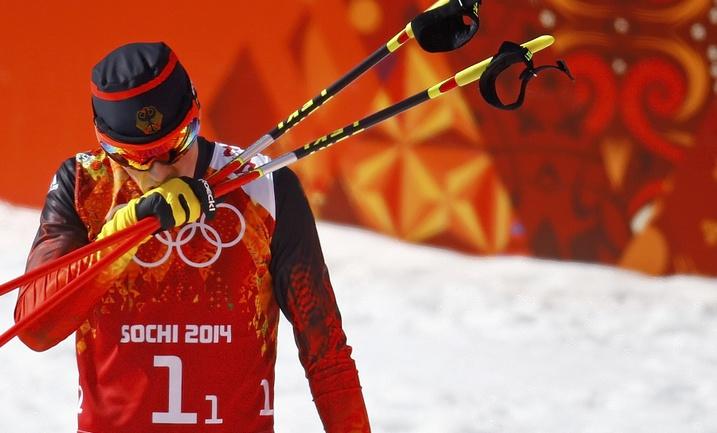 Олимпийский чемпион Сочи в двоеборье Эрик ФРЕНЦЕЛЬ. Фото REUTERS