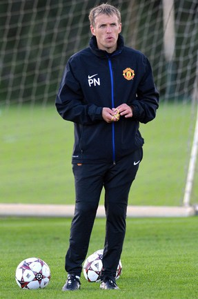 "Тренер ""Манчестер Юнайтед"" Фил НЕВИЛЛ. Фото AFP"