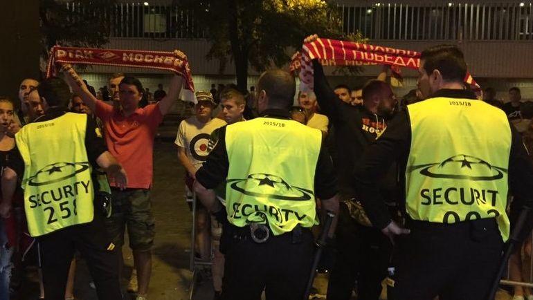 Фанаты «Спартака» пытались попасть наматч Лиги чемпионов вшарфах «Севильи»