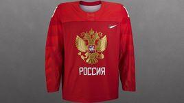 Золотой орел на красном. Олимпийская форма России