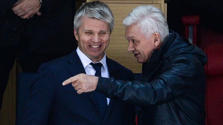 """Министр спорта Павел КОЛОБКОВ (слева) и Геннадий ТИМЧЕНКО. Фото Дарья ИСАЕВА, """"СЭ"""""""