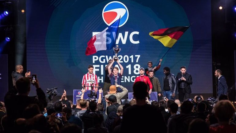 Тройка призеров ESWC PGW 2017. Фото PSGeSports