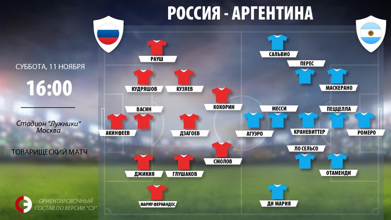 """Россия vs Аргентина. Фото """"СЭ"""""""