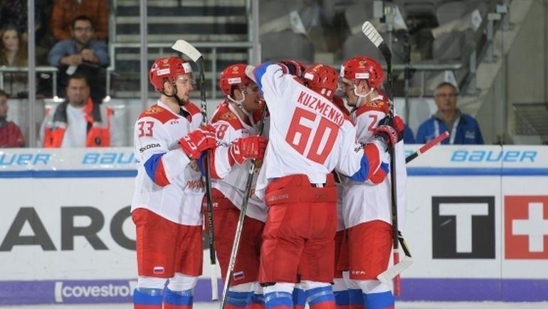 Олимпийская сборная России - победитель Кубка Германии. Фото ФХР/fhr.ru