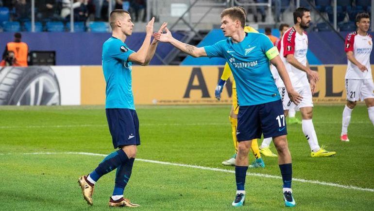 «Зенит» обыграл «Вардар» вматче Лиги Европы срезультатом 2:1