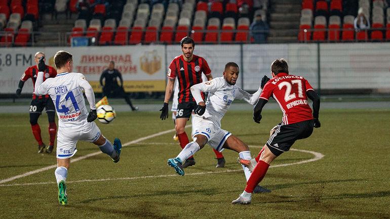 «Динамо» проиграло «Амкару» ипродлило безвыигрышную серию до 5-ти матчей вРФПЛ