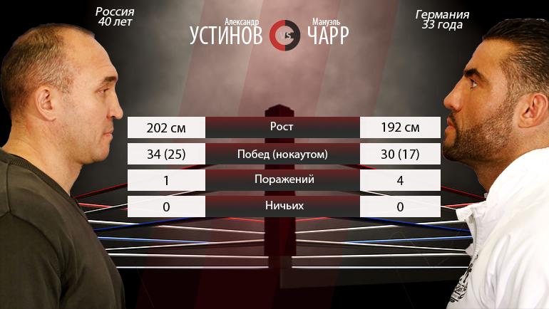 """Александр Устинов vs. Мануэль Чарр. Фото """"СЭ"""""""