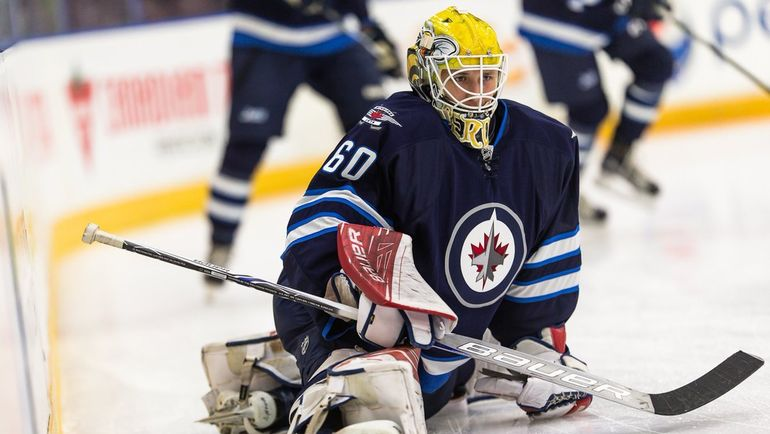 "Михаил БЕРДИН в игре за ""Виннипег"". Фото Winnipeg Jets"