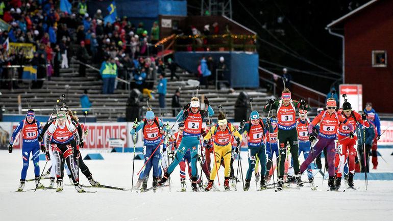 Русские биатлонисты заняли восьмое место всупермиксте наэтапеКМ вШвеции