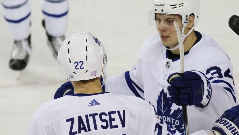 Никита ЗАЙЦЕВ (слева) и Остон МЭТТЬЮЗ. Фото USA TODAY Sports