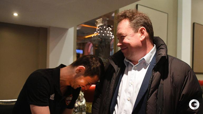 Сегодня. Манчестер. Леонид СЛУЦКИЙ (справа) и Алан ДЗАГОЕВ в гостинице ЦСКА.