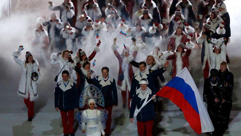 Сборная России - лучшая команда Олимпиады-2014 в Сочи. В Пхенчхане по решению МОК российского триколора не будет. Фото AFP