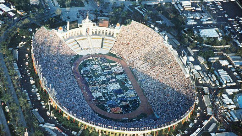 28 июля 1984 года. Церемония открытия Олимпиады в Лос-Анджелесе. Фото AFP