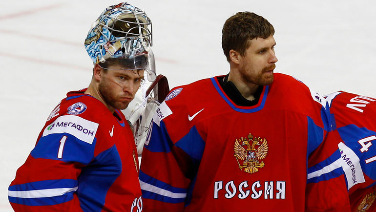 Илья БРЫЗГАЛОВ (справа) в сборной России. Фото Елена Руско, КХЛ