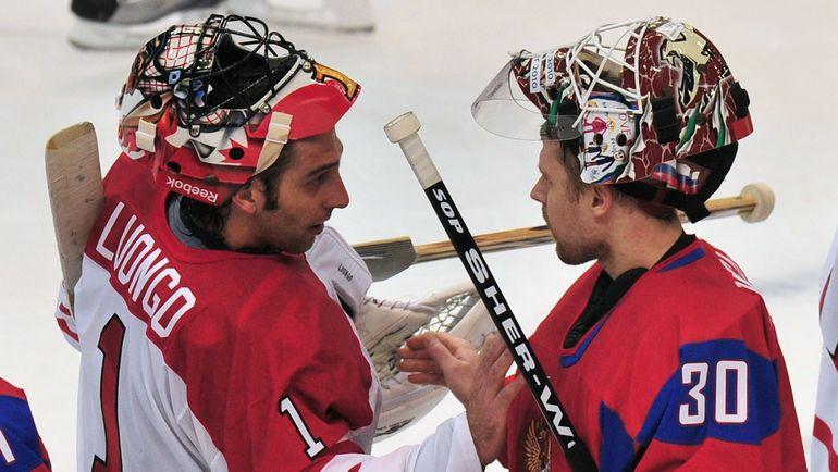 Илья БРЫЗГАЛОВ (справа) на Олимпиаде в Ванкувере. Фото AFP