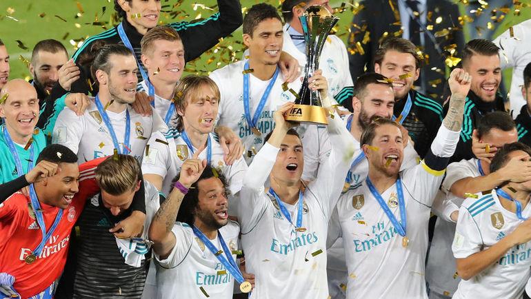 """Сегодня. Абу-Даби. """"Реал"""" - """"Гремиу"""" - 1:0. """"Реал"""" стал первым клубом, дважды подряд выигравшим турнир. Фото REUTERS"""