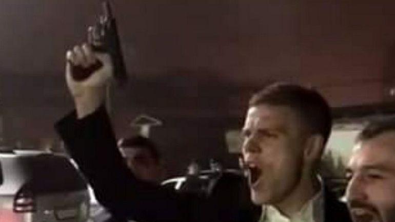 Во время празднования Александр КОКОРИН также пострелял из пистолета. Фото Инстаграм